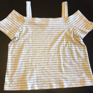 Madewell off shoulder T-shirt -NWOT